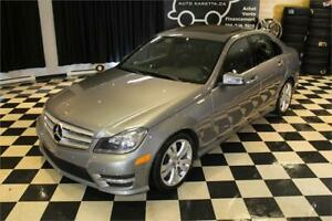 2012 MERCEDES C250 4MATIC/AWD, NAVIGATION, TOIT, BLUETOOTH, MAGS