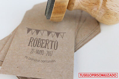 Sello para Comunion Caucho Personalizado Ideal Invitaciones,Tarjetas... Mod.09