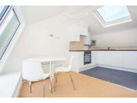 A stunning two bedroom penthouse style flat with lots of light at the door step to Barons Court