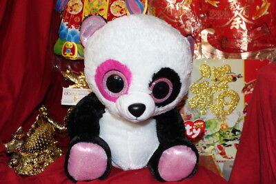 "TY BEANIE BOOS JUMBO PENNY THE PANDA.16"".JUSTICE EXCLUSIVE.2013.MWNMT.NICE GIFT"