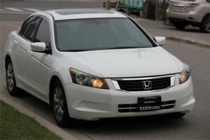 2008 Honda Accord EXL *LEATHER ROOF MAG RIMS* WHITE ON BLACK !