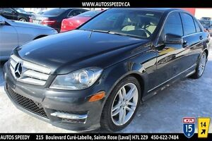2013 MERCEDES-BENZ C300 4MATIC CLEAN CARPROOF, CUIR VERITABLE