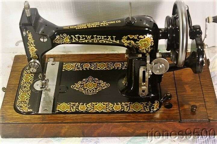 "1920*NEW HOME*HAND CRANK SEWING MACHINE*NEW IDEAL ""D"""