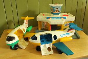 Aéroport, Jetport, avions Fisher Price vintage