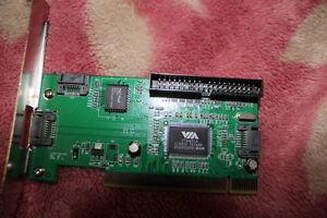 PCI SATA 3 Port +IDE 1 Port  RAID Controller Card VIA VT6421A