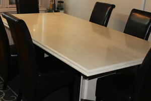 MARBLE STONE DINNING TABLE LIKE NEW