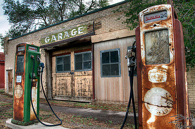 Home Wall Decor Photograph, Print, Poster, ACEO, or Canvas - Old Gas Pump