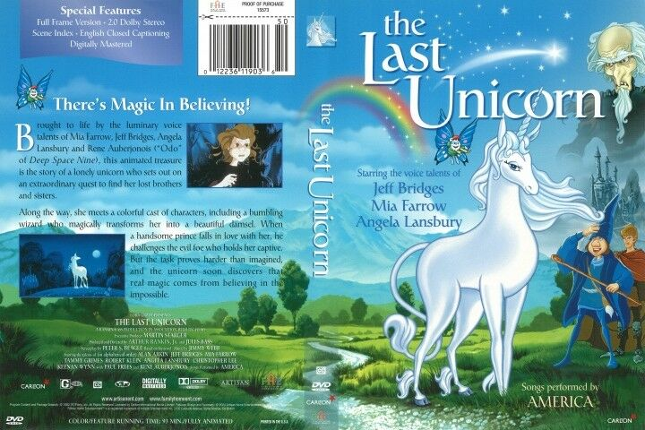 THE LAST UNICORN - Jeff Bridges - NEW DVD Box - FREE Post - mmoetwil@hotmail.com