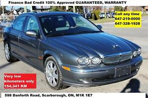 2004 Jaguar X-TYPE AWD FINANCE 100% APPROVED 154,341km