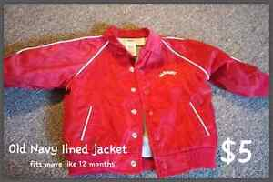 Old Navy lined jacket - 12montha Kitchener / Waterloo Kitchener Area image 1