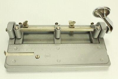Vintage Wilson Jones Hummer Us Heavy Duty Industrial Adjustable 3 Hole Punch314