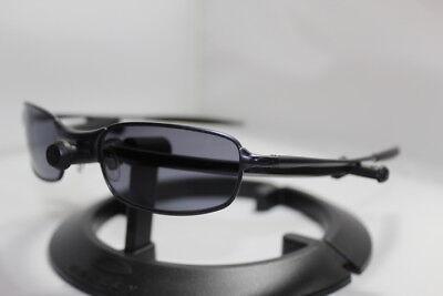 5d8f228fcb New Oakley Square Wire 2.0 Spring Hinge Sunglasses Dark w Grey Lens 30-787