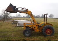 MASSEY FERGUSON INDUSTRIAL LOADER TRACTOR FULLY WORKING CAN DELIVER SEE VIDEO no VAT STABLES SCAPER