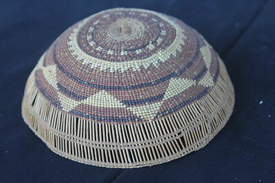 Hupa Area Indian BASKET HAT or cradleboard shade my guess probably Whilcut
