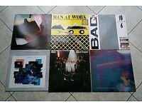 6 vinyl records
