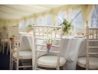 Chiavari Wedding Chair Hire, Banqueting tables, Trestle tables, Post Box, free local delivery
