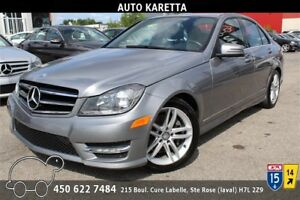 2014 MERCEDES C300 4MATIC/AWD, 77.906 KM, TOIT, BLUETOOTH, MAGS