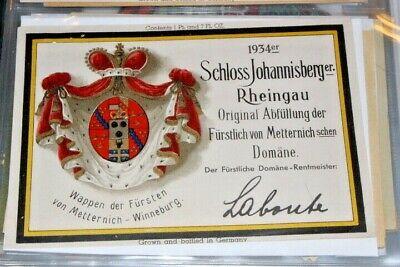 #W109,Vintage German Wine Label Schloss Johannisberger 1934