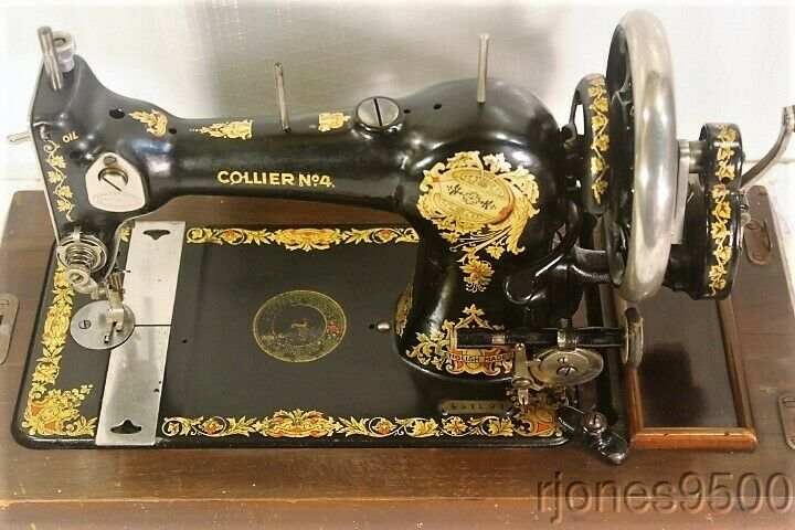 *COLLIER*HAND CRANK SEWING MACHINE*MADE BY JONES*1920s*