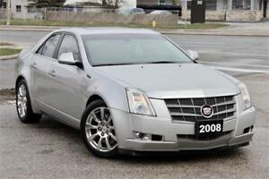 2008 Cadillac CTS 3.6L - AWD - Accident Free - Navigation - Cert
