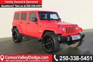 2015 Jeep Wrangler Unlimited Sahara ONE OWNER, LOW KILOMETERS...