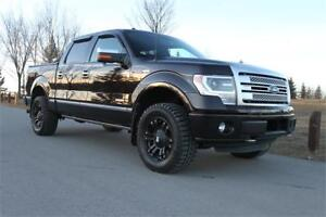 "2013 Ford F150 Platinum Shot Box ""33 Tires Low KMS"