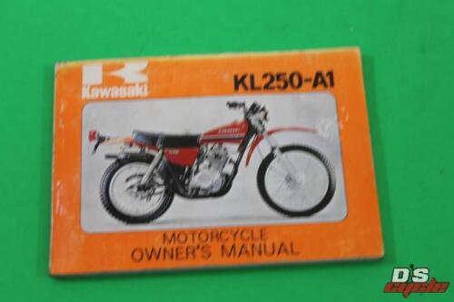 OEM Kawasaki Owner's Manual KL250-A1