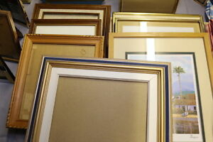 Large Group --- Wood and Metal Photo/Art Frames ---- CRAZY CHEAP