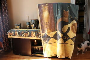 ENSEMBLE COMPLET SALLE BAIN DESIGNER LINDA SPIVEY COUNTRY CATS