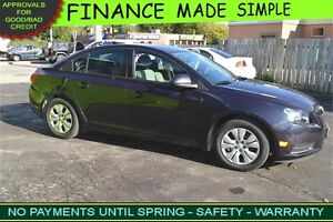 2014 Chevrolet Cruze LS :::: just $46 a week :::: QUICK APPROVAL