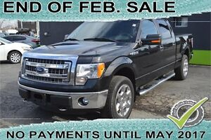 "2013 Ford F-150 4WD SuperCrew 145"" XLT with LEATHER SEATS"