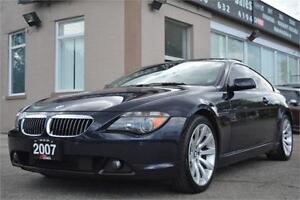 2007 BMW 6 Series 650i *NO ACCIDENTS LOW KM CERTIFIED & WARRANTY