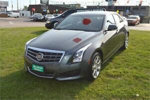 2013 Cadillac ATS, 12 MONTH WARRANTY, Sunroof, Leather, Loaded