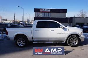 2012 Ram 1500 Laramie 4x4 Chrome, Screen,Leather,Cover,Camera