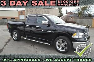 2012 Dodge RAM 1500 4WD Quad Cab Big Horn, CENTER CONSOLE SHIFT