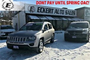 2015 Jeep Compass North Edition 4x4 WITH ALLOY WHEELS