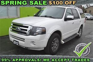 2012 Ford Expedition Limited 4WD, Leather/Sunroof, 8 Passenger