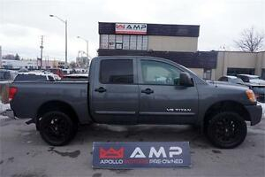 2011 Nissan Titan 4x4 Upgraded Wheels Crew cab Short Box