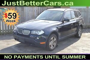 2008 BMW X3 3.0si -- LEATHER - SUNROOF -- only $59 a Week