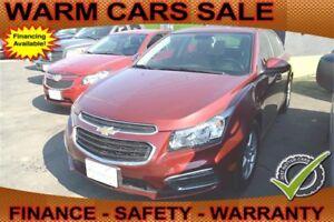 2015 Chevrolet Cruze 2LT & Auto Loan for $58 per Week