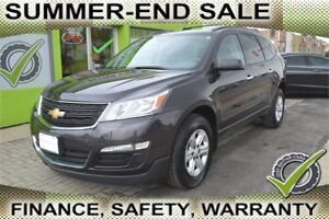 2014 Chevrolet Traverse LS FWD w/PDC, OWN for $75 Week, Seats 8