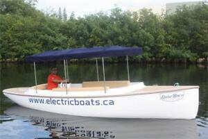 100% ELECTRIC BOAT, PARTY BOAT, PONTOON, TORQEEDO, MINN KOTTA