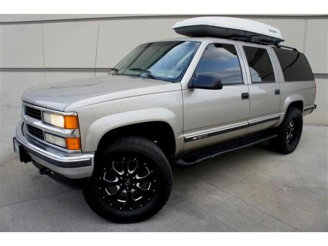 Chevrolet : Other LIFTED 4X4 CUSTOM LIFTED 99 CHEVY SUBURBAN LT 4X4 LEATHER HEATED SEATS 20 INCH BLACK WHEELS