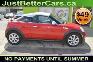 2012 Mini Cooper S, OWN for $49 Weekly - Let Us Finance You!
