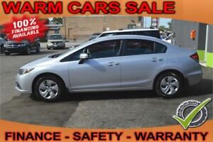 2014 Honda Civic LX, Auto Loan for $59 per Week, Quick Reply!