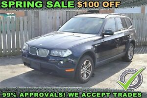 2008 BMW X3 3.0si, LEATHER - SUNROOF