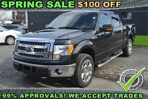 """2013 Ford F-150 4WD SuperCrew 145"""" XLT, LEATHER SEATS - BKP CAM"""