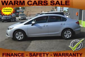 2014 Honda Civic LX & Auto Loan for $59 per Week, Quick Reply!