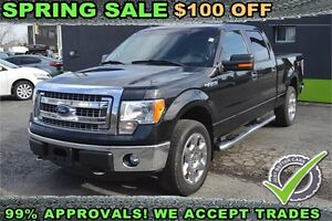 "2013 Ford F-150 4WD SuperCrew 145"" XLT, 2 YEAR WARRANTY INCLUDED"