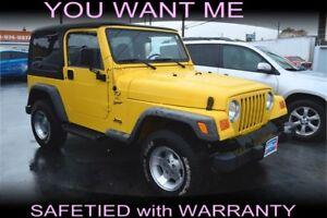 2001 Jeep TJ Sport 4x4, RECENT ARRIVAL